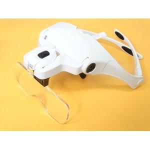 Лупа-очки с увеличением 1.0х-3.5х, подсветкой и фокусным расстоянием 15,6 см - 55,5 см