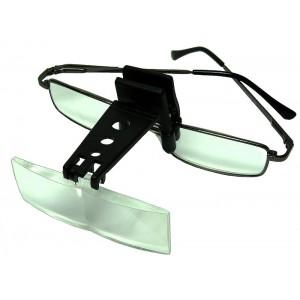 Лупа для рыбака 1,5х,2,5х,3,5x с набором линз (с прищепкой на очки или козырек кепки)