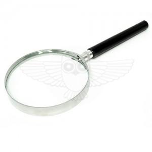 Лупа просмотровая 2х d=100 мм, с черной ручкой