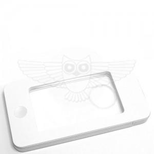 Лупа прямоугольная 5х с подсветкой и футляром, белая (iPhone)