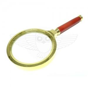 Лупа просмотровая 2,5х d=80 мм, латунь