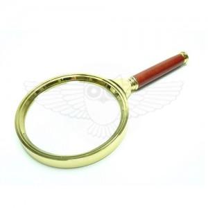 Лупа просмотровая 2х, d=90 мм, латунь