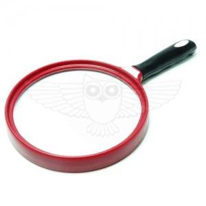 Лупа просмотровая 2х d=140 мм, с резиновой ручкой