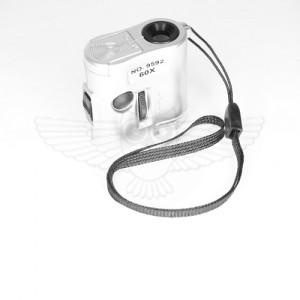 Лупа-микроскоп 60х, компактная