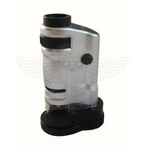 Лупа-микроскоп 20-40х, zoom, с подсветкой