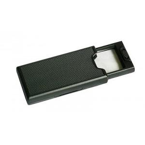 Лупа просмотровая 2,5х 60х32 мм, 45х d=9 мм, с подсветкой, выдвижная