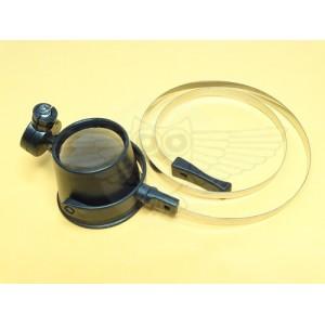 Лупа наглазная 15х d=30 мм, с подсветкой и держателем