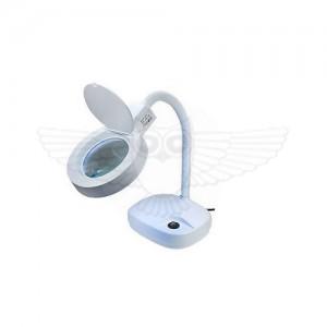 Косметологическая лупа-лампа 3D d=80, 8х d=20, белая