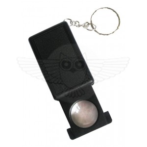 Лупа ювелирная 45х d=21 мм, с подсветкой в футляре