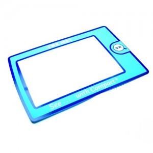 Линза Френеля 2х, 90 мм х 60 мм в голубой рамке