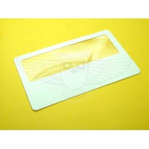 Линза Френеля 2х, 75 мм х 25 мм, визитка