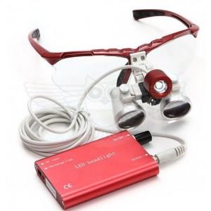 Лупа-очки бинокулярная 3,5х f=420 мм (Хирургическая/Стоматологическая) С ПОДСВЕТКОЙ