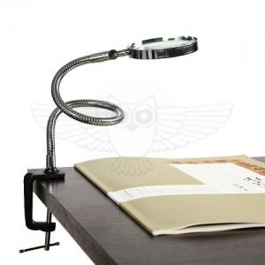 Лупа косметологическая 3х d=100 мм с креплением на струбцине