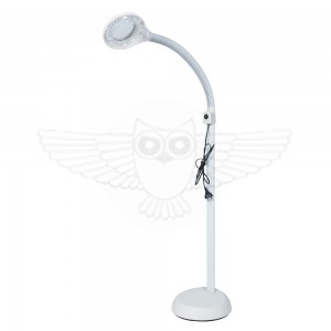 Лампа лупа напольная на гибком штативе с подсветкой 5D (2,25х), d =100 мм